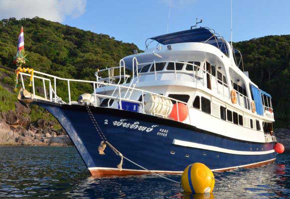 The liveaboard yacht and expedition base