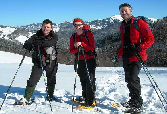 Survey team out in the mountains