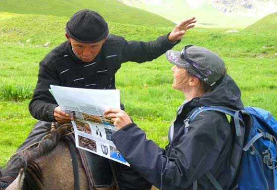 Engaging a local herder (c) Melissa Shepstone