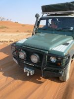 Land Rover in the desert
