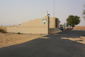Entrance to the Dubai Desert Conservation Reserve