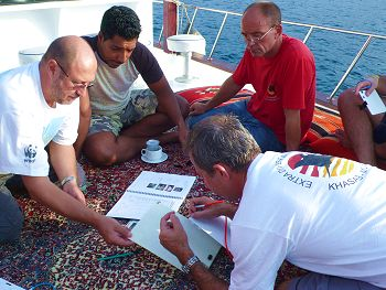 Planning the next survey dive