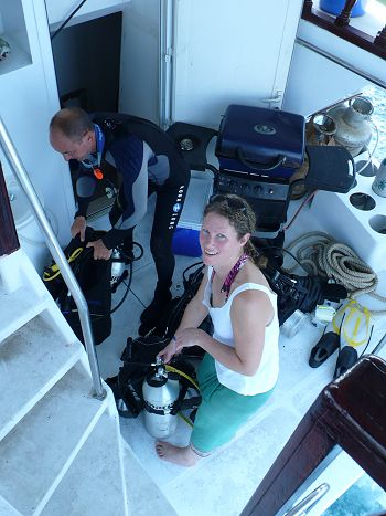 Getting ready for a survey dive